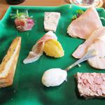 シュタットマインツ - 今回は1,600円(税抜)のコースランチにしました。前菜の盛り合わせ。