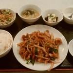 上海台所 - 中華風生姜焼き定食、¥750。