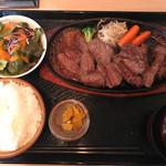 62974000 - 焼肉ランチ                       B(ランプ、ハラミ) 肉ダブル 2300円