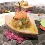 ゴーシェ - シェフのおまかせコース 7200円 の砂肝とシュナンブランのテリーヌ