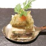 ゴーシェ - シェフのおまかせコース 7200円 の豚の耳と舌と足の煮こごり