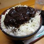 レストハウス舞子 - 2009/12 味噌カツ丼(上)¥1,155+大盛り\180