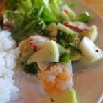 カフェ 鎌倉美学 - 850円のプレートランチ:海老とタコと野菜のマリネ
