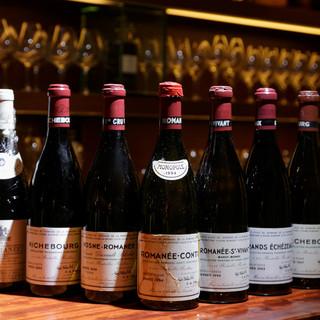 【ワインが豊富】300種類を世界各国の厳選ワインがずらり♪