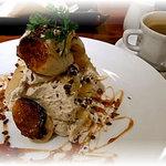 カフェ&ブックス ビブリオテーク - キャラメルバナナのデザート
