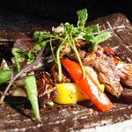 テイストシックス - 野菜ディナーのメインディッシュ☆すんごい豪華でしょ!?グリル野菜&お肉です♪