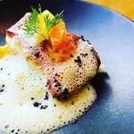 calme - 料理写真:真鯛のポアレブラッドオレンジのソース