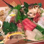 八鶴亭 - 料理写真:特別会席の御造り一例