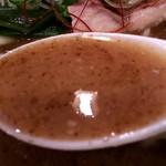 らぁめん 欽山製麺所 - スープ(^^♪