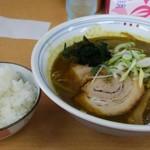カレーらーめん じぇんとる麺 - カレーラーメンとご飯(小)