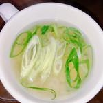 電気舘カレー - 味噌汁