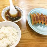 62989744 - 餃子+半ライス(スープ付)