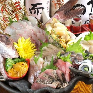 国分寺No1!!獲れたて鮮魚の刺し盛