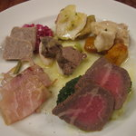 トラットリア・クラウディア - 前菜の盛合わせ