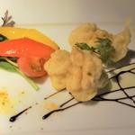 グリル&ダイニング マンハッタンテーブル - [料理] 鱈 白子のフリット バルサミコソース 全景♪w