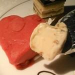 グリル&ダイニング マンハッタンテーブル - [料理] ラズベリーシャーベット & ナッツ入りアイスクリーム