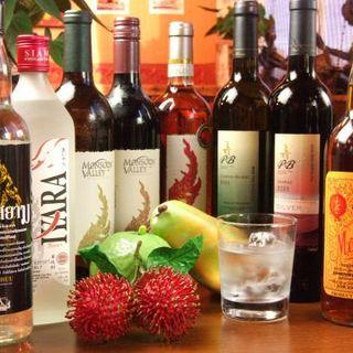 タイのお酒・ソフトドリンクを豊富にご用意しております♪