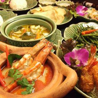「タイ・セレクト」認定!タイの食材を使った多彩なコース◎