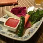 62998786 - 生野菜とトマト味噌