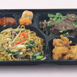 上海食府 - インゲンとレバー炒め+上海風焼きそば¥500