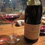 ROBATA ET VINS PETORO - お店には、ワインセラーもあります。