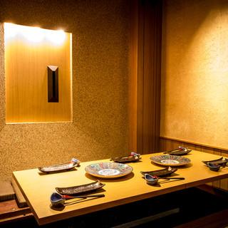贅沢なこだわりの個室空間が宴会に大人気!