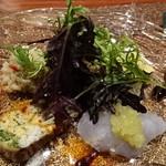 SETTE COLLI - お米のサラダ、白魚のフリッタータ、スズキのカルパッチョ