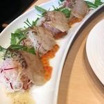 63003376 - 真鯛のカルパッチョ 昆布のソース