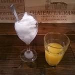 一汁三菜イタリア~の - 身体が冷えてしまった・・・たっぷりレモンシャーベット