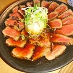 いな葉村 - 料理写真:牛ももステーキポン酢 880円