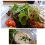 ステレオ - ◆お野菜もタップリ。 ◆タルタルソースも手作りだと思いますけれど、まろやかで美味しい。