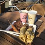 サイボクハム キッチン&カフェテリア - 豚トンセット+スペアリブ1本+ドリンク2
