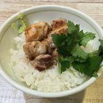 中華そば 四つ葉 - 「地鶏の塩焼き丼」350円