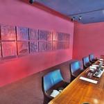 リバーリトリート 雅樂倶 - 1日目の朝食での個室。個性たっぷりのデザイン。