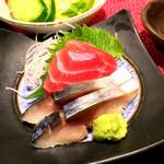 63014342 - お刺身2種(マグロとしめ鯖)