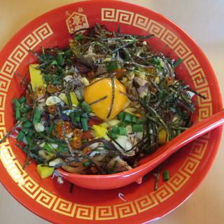 蔵 - 料理写真:ちらしまぜそば 単品 600円、ミニ鯛茶付 1000円