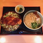 つる吉井倉店 - 料理写真:新メニュー  ソースかつ丼 ミニうどん付き  ¥1130