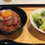 ローストビーフ 星 - 並盛り+サラダ 1166円
