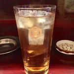 もつ焼 高松屋 - 麦茶割り