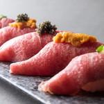 エロうま野菜と肉バル カンビーフ - 元祖肉寿司!全て和牛を使用しています!