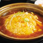 中国料理 天安門 - フカヒレあんかけチャーハン定食