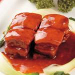 中国料理 天安門 - 黒酢角煮酢豚