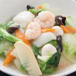 中国料理 天安門 - 中華丼とミニラーメンセット