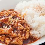中国料理 天安門 - 麻婆豆腐とミニラーメンセット