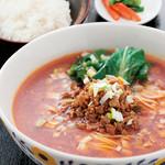 中国料理 天安門 - 担々麺とライスセット