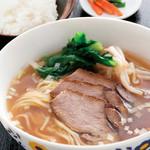 中国料理 天安門 - _チャーシュー麺とライスセット