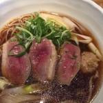 横濱蕎麦 傳介 - 鴨肉3枚とつくね1個