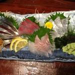 宗平 - 鯖刺しと白身魚刺し