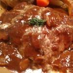 THE STATION GRILL - [料理] ハヤシきのこソースの土鍋ハンバーグ アップ♪w