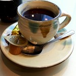 63036762 - 小鹿田焼きのカップでコーヒー